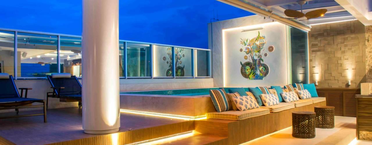 COBERTURA APARTAMENTO Rosset Arquitetura Varandas, alpendres e terraços modernos