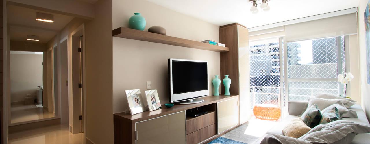 Apartamento - Caioba Salas de estar modernas por Katalin Stammer Arquitetura e Design Moderno