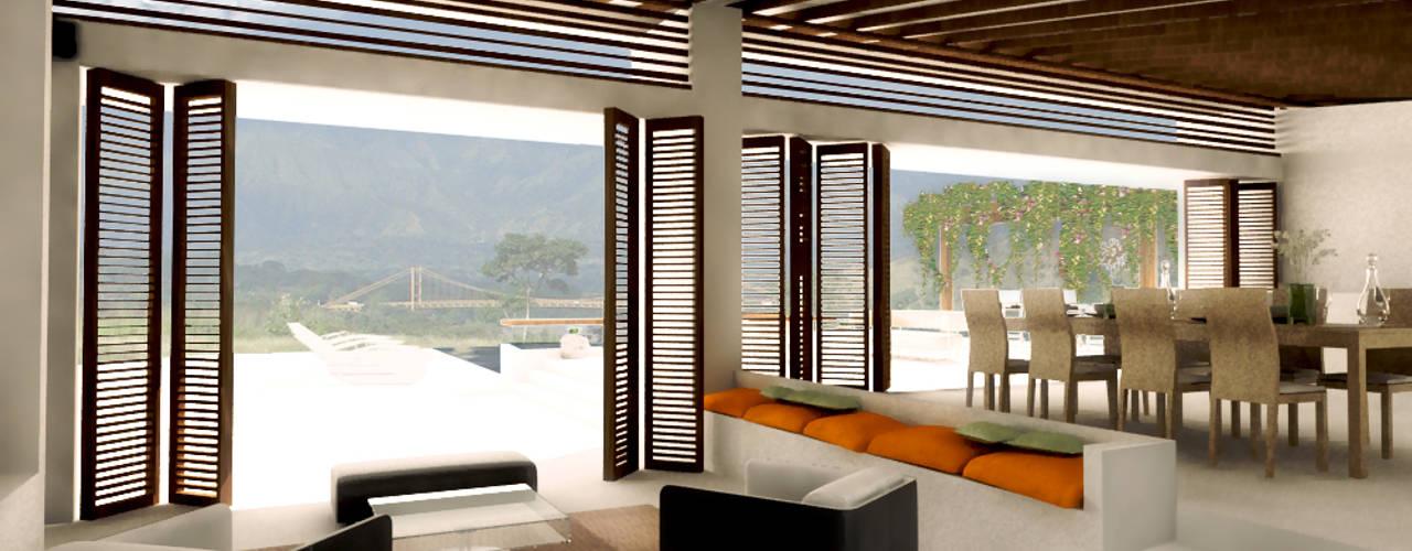 CASA _ M+A _ Santa Fe de Antioquia: Casas de estilo  por tresarquitectos
