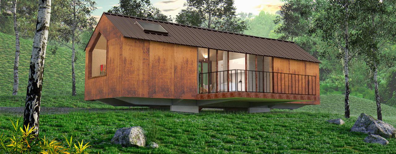 PROTOTIPO EXTEND _ Viviendas Refugio: Casas de estilo  por @tresarquitectos