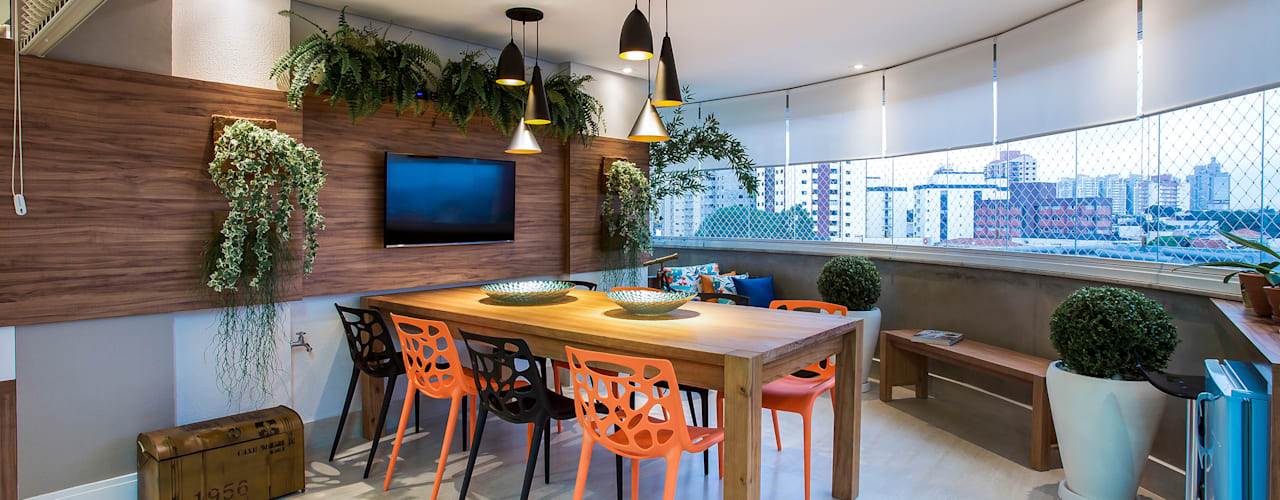 بلكونة أو شرفة تنفيذ Amanda Pinheiro Design de interiores