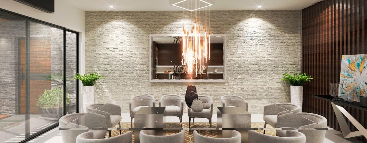 Comedores de estilo  por HZH Arquitectura & Diseño
