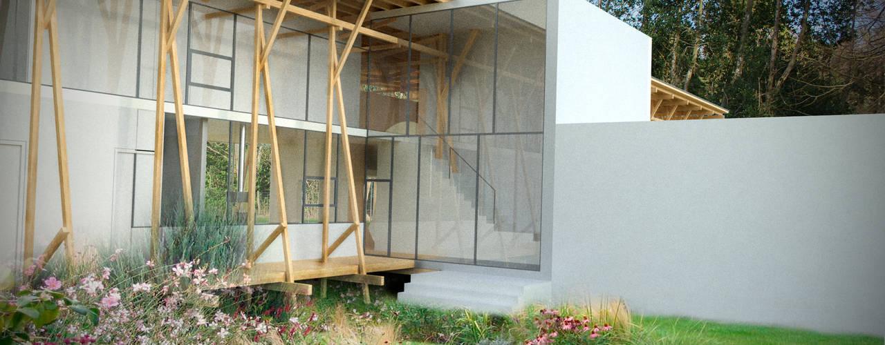 Projekty, nowoczesne Domy zaprojektowane przez Studio Maurice Shapero