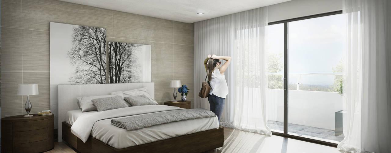 غرفة نوم تنفيذ Pure Design