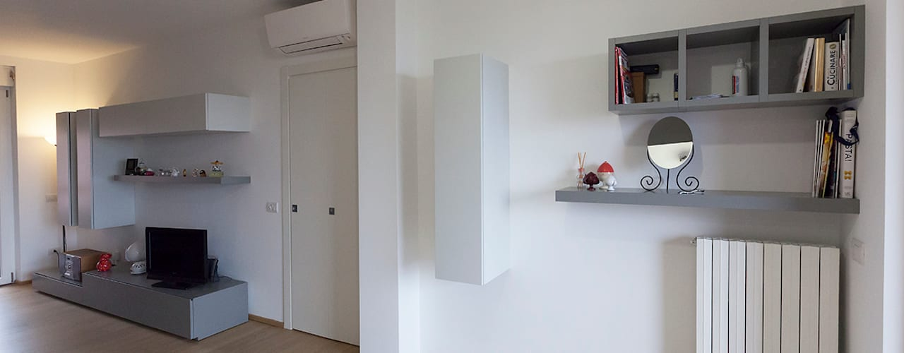 غرفة المعيشة تنفيذ Laura Galli Architetto