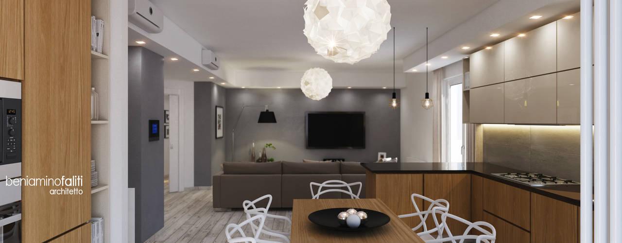 Cocinas modernas de Beniamino Faliti Architetto Moderno
