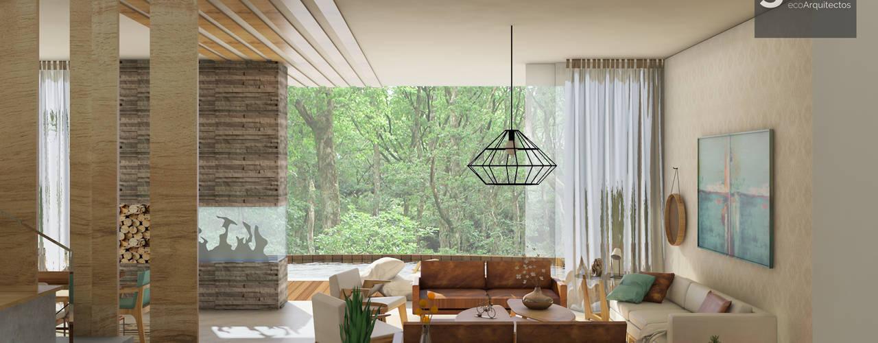 GHT EcoArquitectos Salas de estar modernas