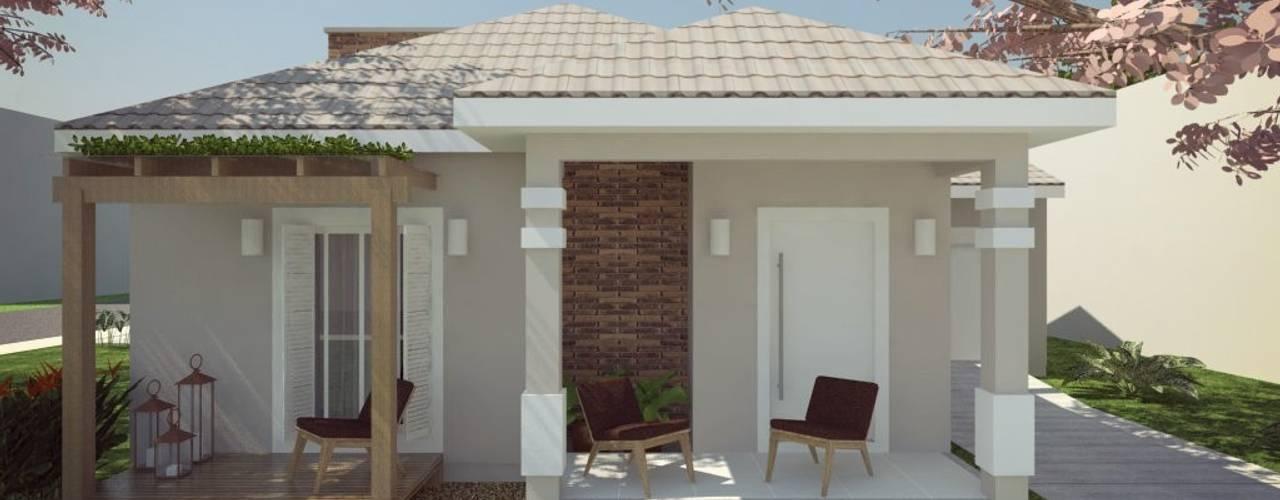 Projekty, klasyczne Domy zaprojektowane przez Cíntia Schirmer   Estúdio de Arquitetura e Urbanismo
