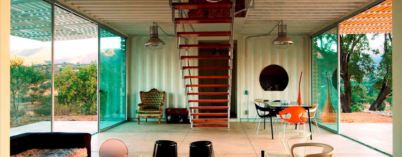 MANIFESTO HOUSE: Salas de estilo  por james&mau, Industrial