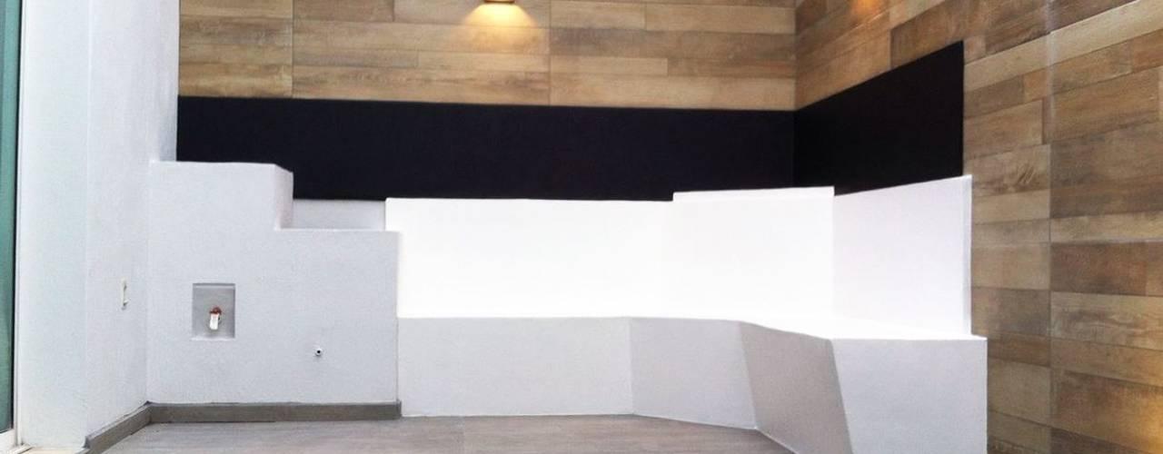 homify Jardines de estilo moderno Azulejos Acabado en madera
