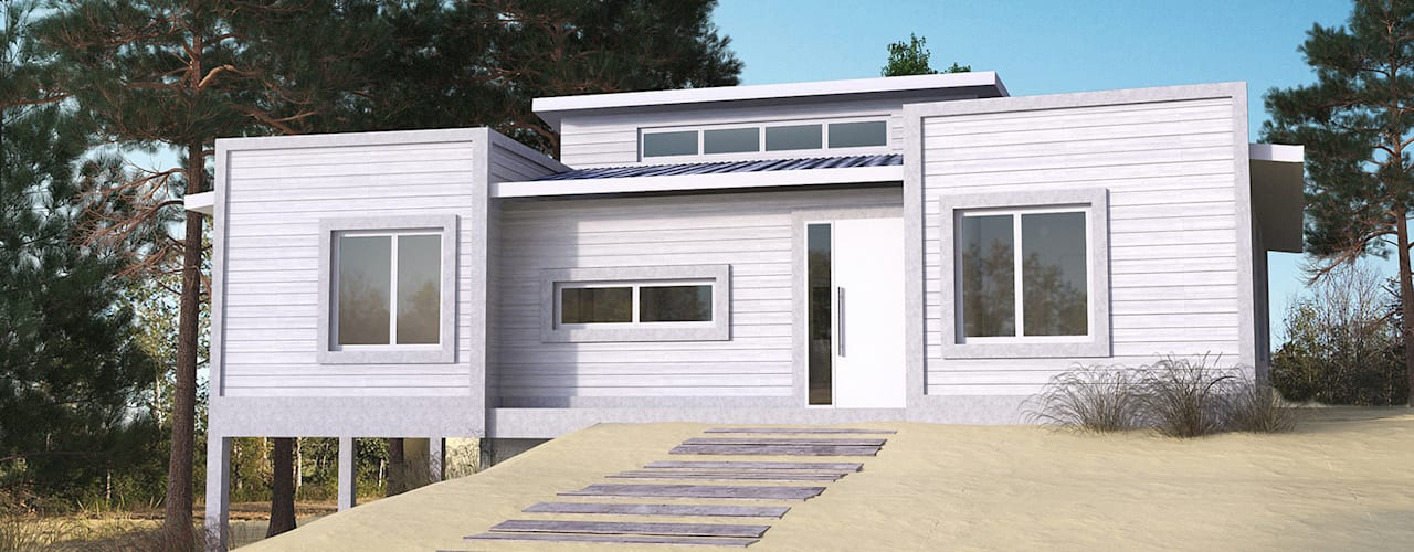 JOM HOUSES Modern houses Bricks Grey