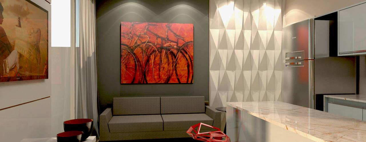 Salas / recibidores de estilo  por P&I Arquitetura