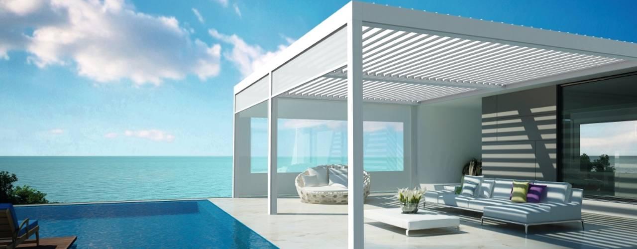 Terrassendach derraumhoch3 Infinity pool