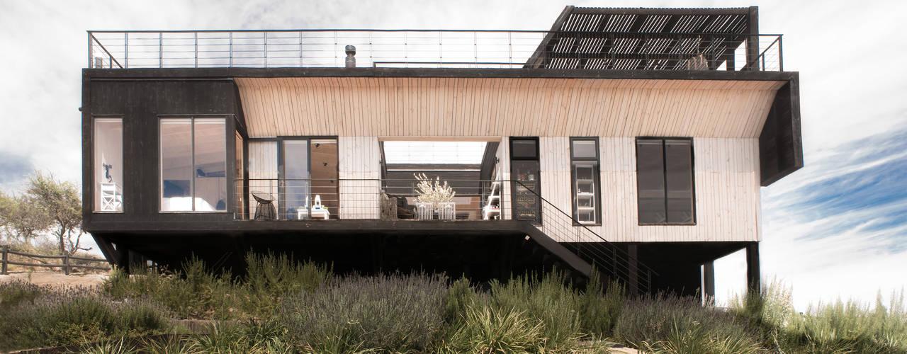 B+V Arquitectos 現代房屋設計點子、靈感 & 圖片 木頭 Wood effect