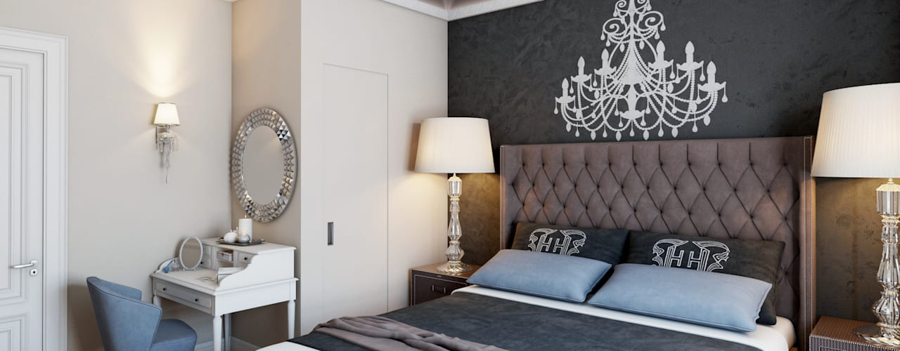 Eclectic style bedroom by Happy Design Eclectic