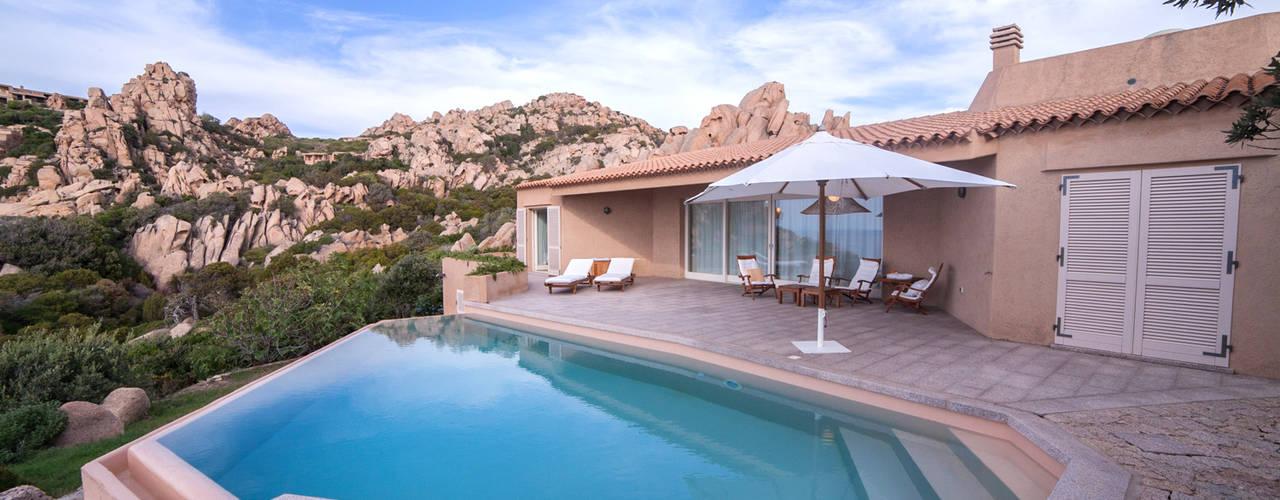 Villa Mediterranea Ragazzi and Partners Piscina in stile mediterraneo