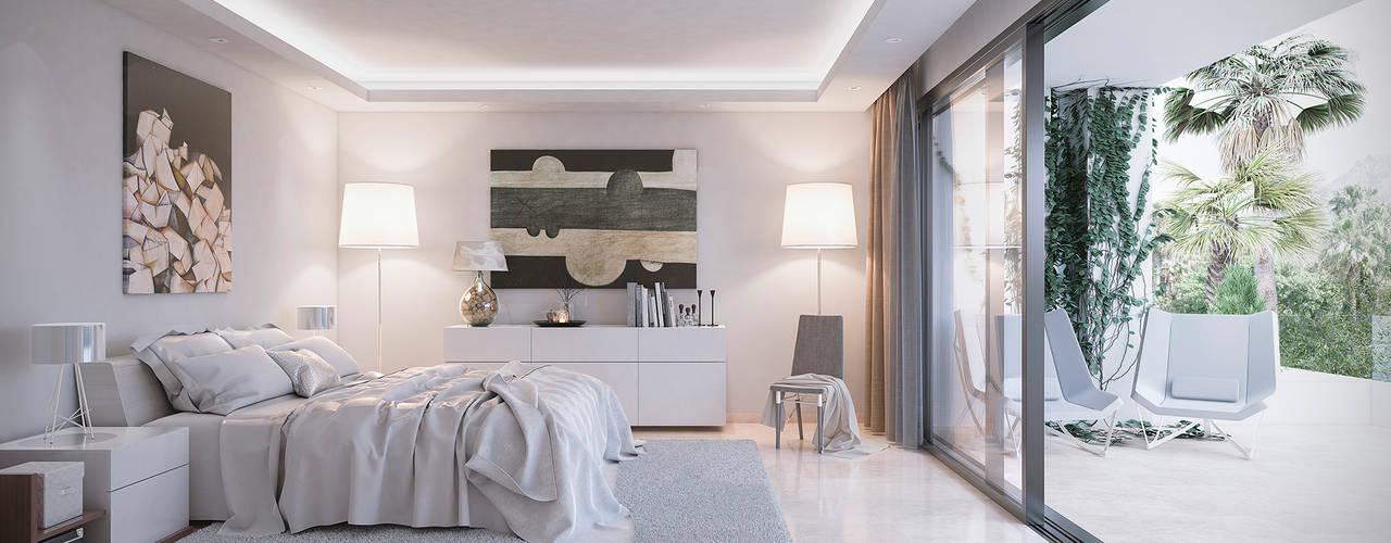 5d96a7683 Villas en Altos de Puente Romano  Dormitorios de estilo de DIKA estudio