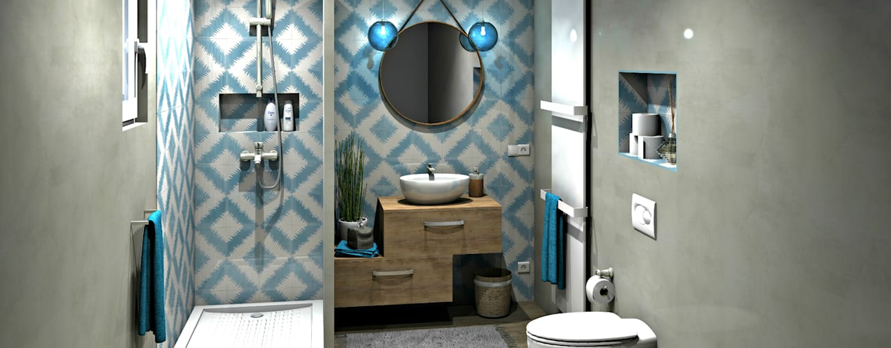 Mediterranean style bathrooms by MJ Intérieurs Mediterranean