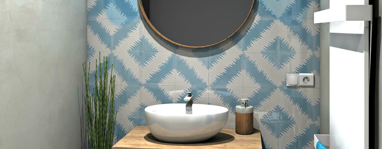 Mediterranean style bathroom by MJ Intérieurs Mediterranean