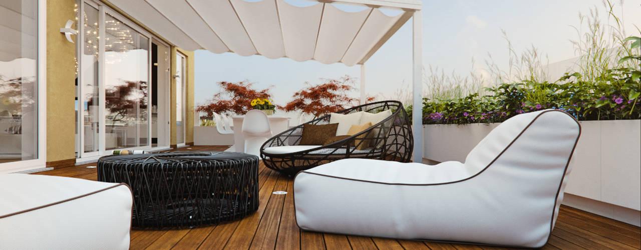 Balcones y terrazas de estilo moderno de Annalisa Carli Moderno