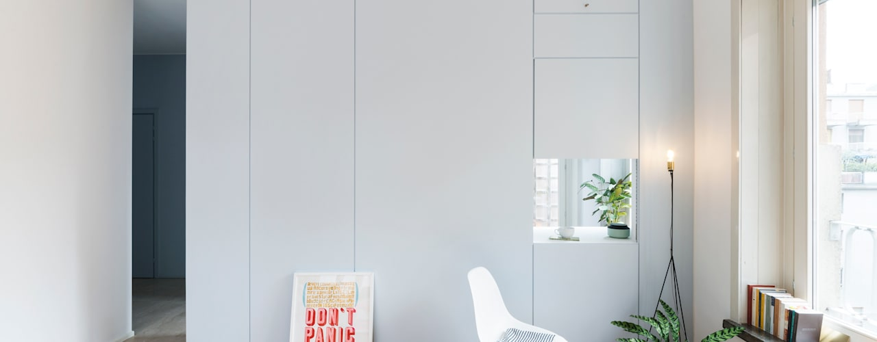 Moderne woonkamers van studio wok Modern
