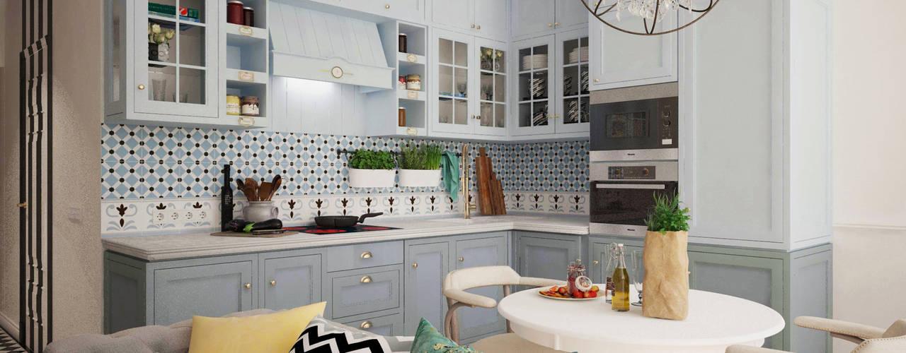 Цветущий миндаль: Кухни в . Автор – Дизайн-студия Анны Игнатьевой,