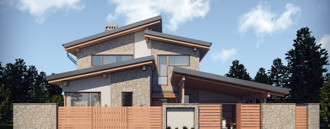 Colonial style house by Компания архитекторов Латышевых 'Мечты сбываются' Colonial
