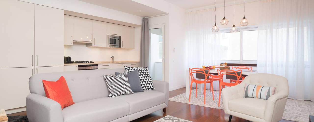 Ruang Keluarga Modern Oleh Margarida Bugarim Interiores Modern