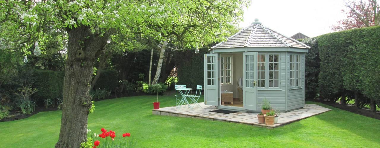 Wiveton Summerhouse with Weathered Cedar Shingles:   by CraneGardenBuildings