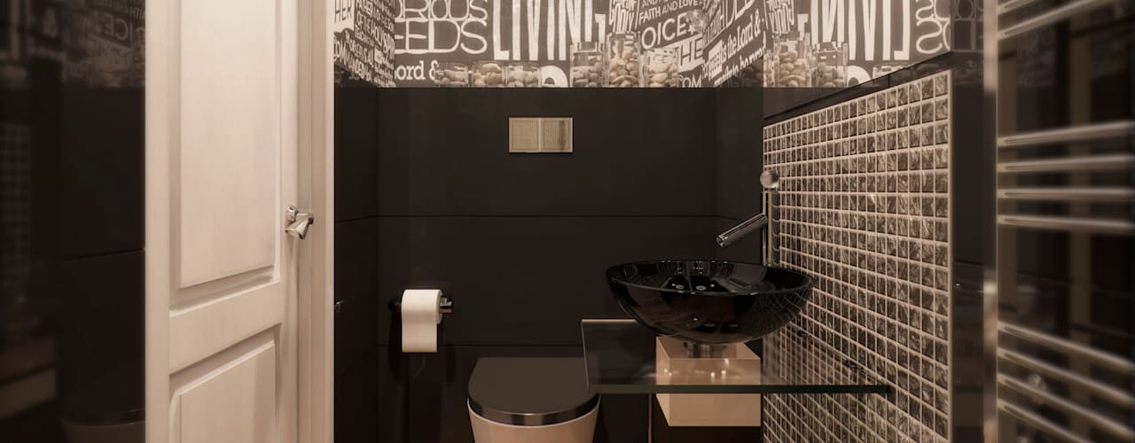 Bathroom by Anastasia Yakovleva design studio, Industrial