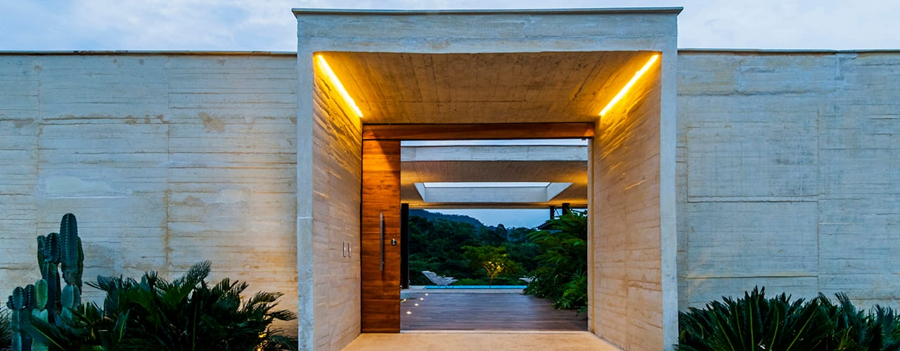 modern Houses by Arquitectura en Estudio