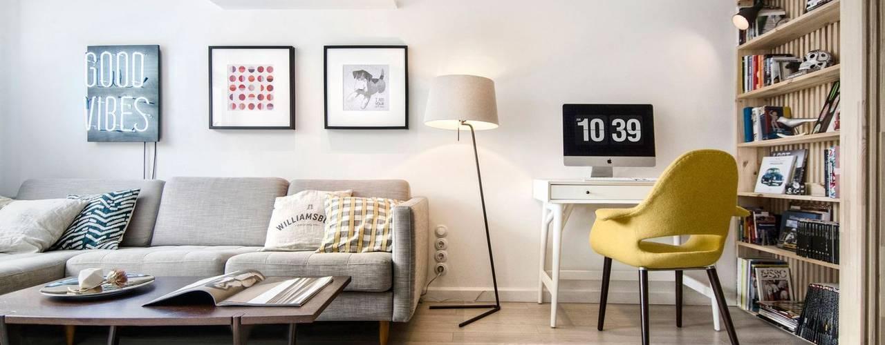 INT2architecture Livings de estilo escandinavo Blanco