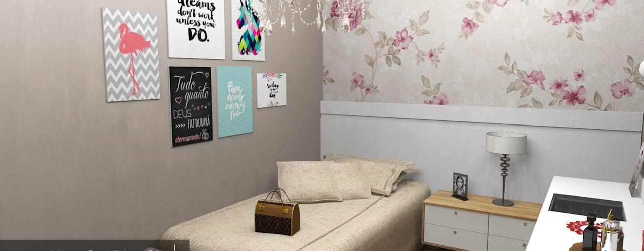 Phòng ngủ phong cách kinh điển bởi Renata Monteiro Arquitetura e Interiores Kinh điển