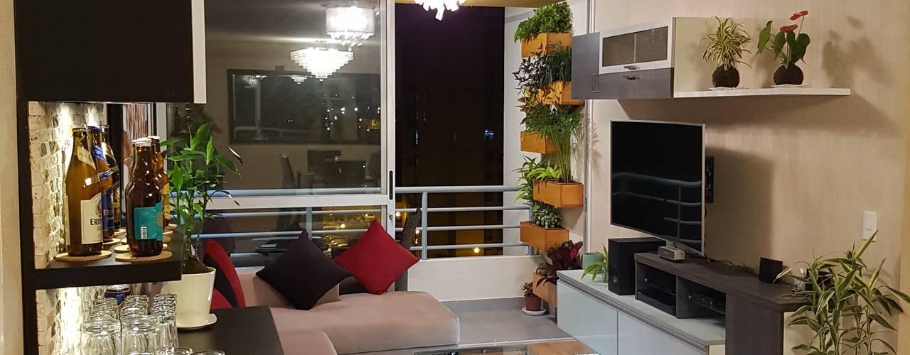 Departamento 87 m2 San Miguel - Lima:  de estilo  por Raúl Zamora