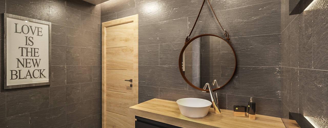 Uğur RİCA İÇ MİMARLIK – Banyo Tasarımı / Bathroom:  tarz Banyo, Modern