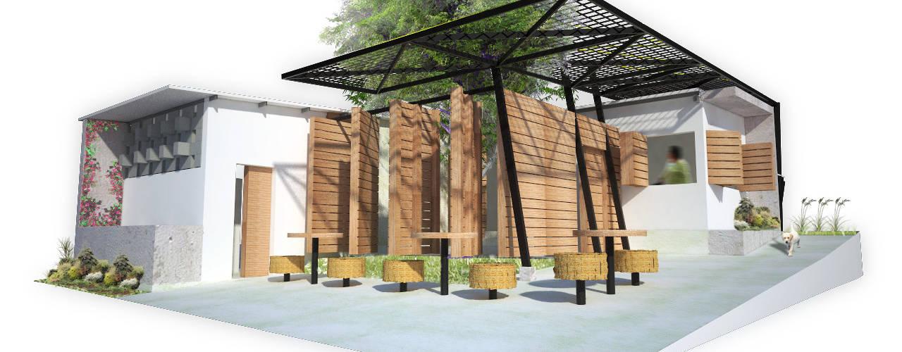 Casa Plaza (Vivienda Barrial Productiva) Casas de estilo minimalista de Taller de Desarrollo Urbano Minimalista