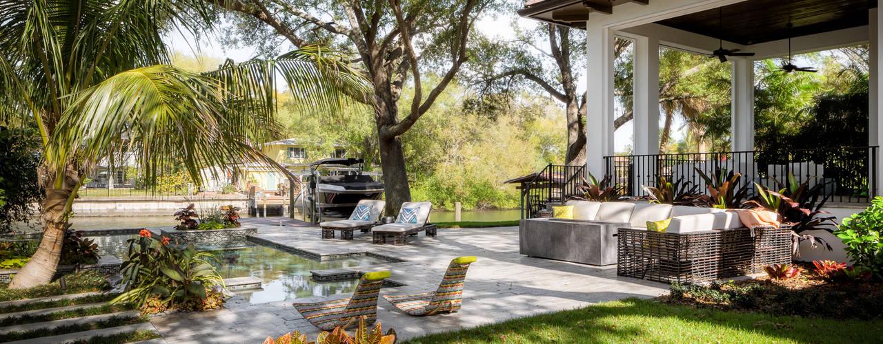 Pasquale Design | Mediterranean Modern Luxe | Tampa, FL Moderner Garten von Chibi Moku Architectural Films Modern
