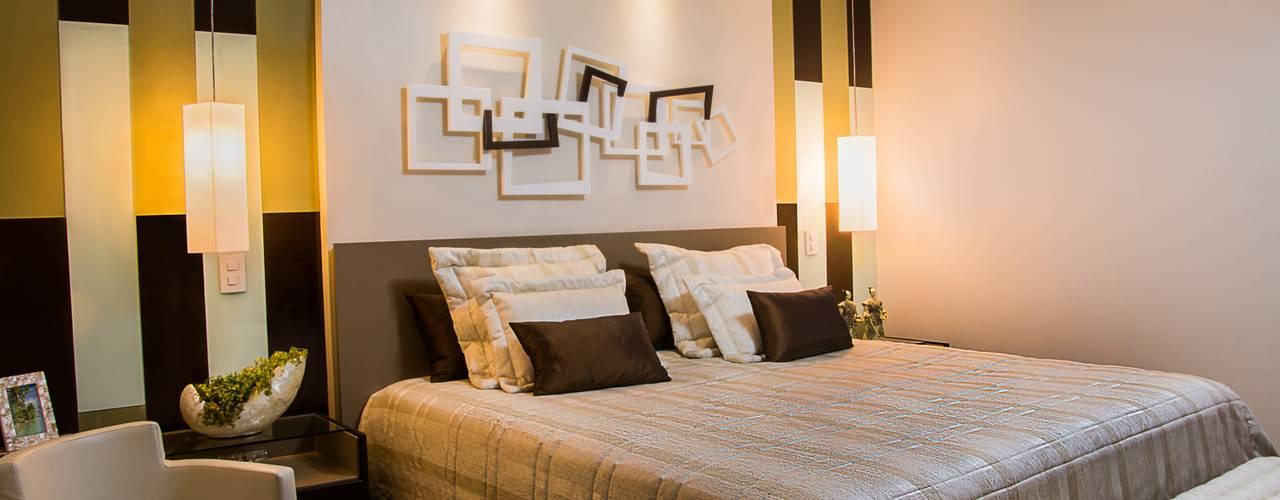 Brasilia Design de Interiores Dormitorios de estilo moderno Beige