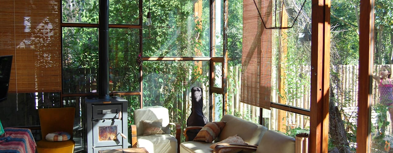 Soggiorno in stile  di Guadalupe Larrain arquitecta