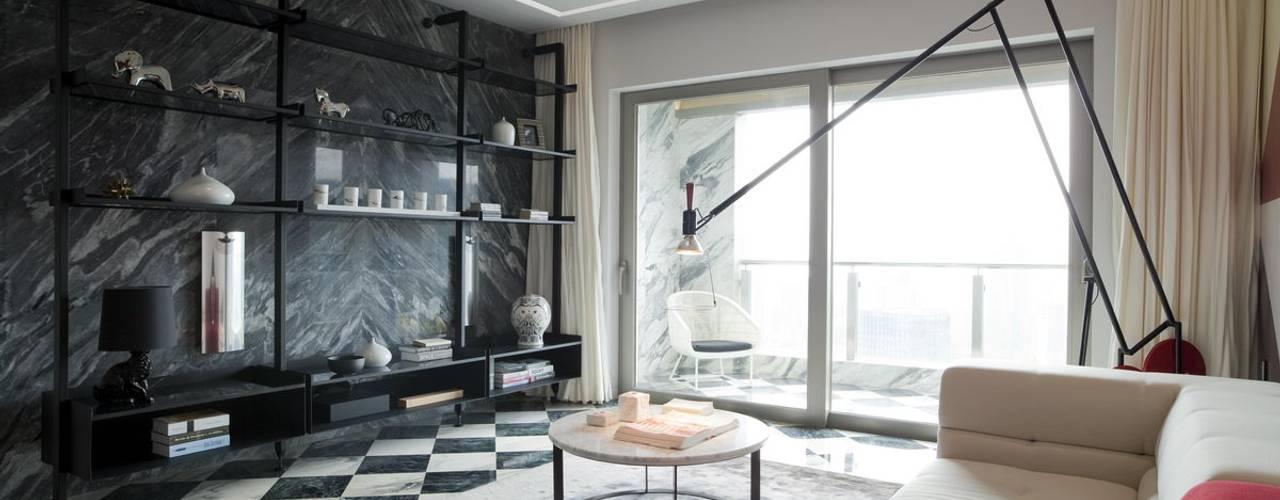 Apartment in Shenzhen, China Modern Living Room by Sergio Mannino Studio Modern