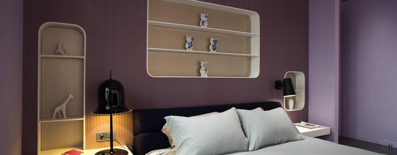 Sergio Mannino Studio:  tarz Yatak Odası, Modern
