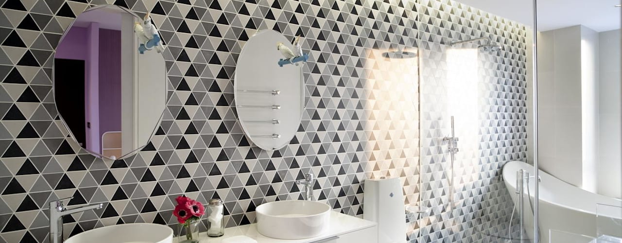 Apartment in Shenzhen, China Sergio Mannino Studio Modern Bathroom Ceramic White