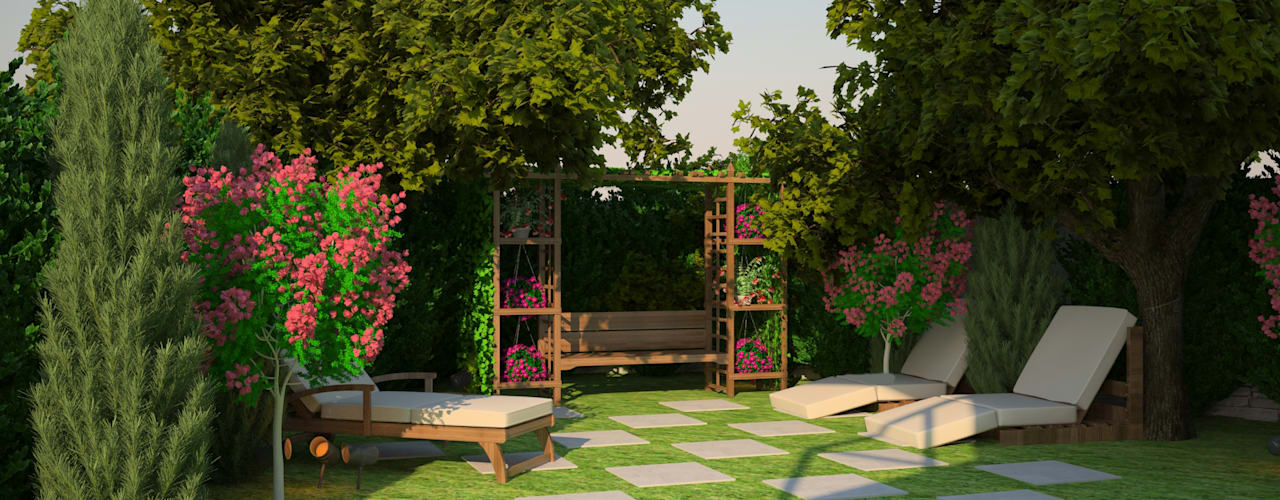Country style garden by ARKHE MİMARLIK Country