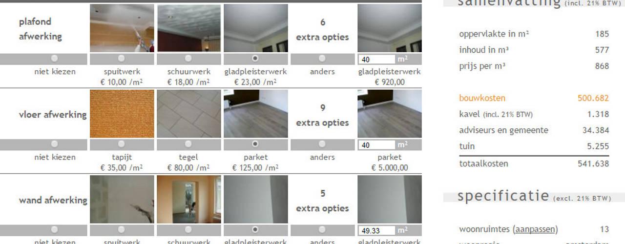 Bereken uw (ver)bouwkosten: modern  door watkostbouwen.nl , Modern