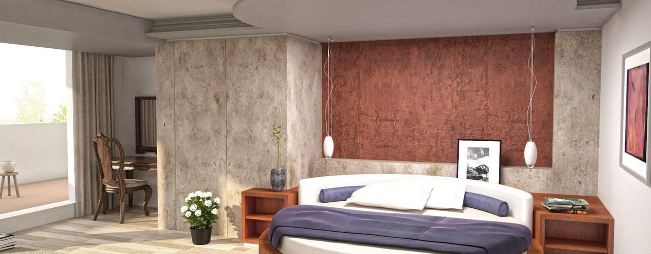 Phòng ngủ phong cách hiện đại bởi eNArch.info Hiện đại
