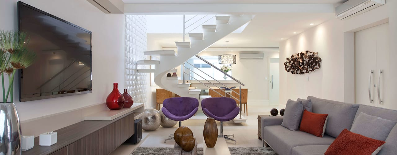 Ruang Keluarga Modern Oleh Virna Carvalho Arquiteta Modern