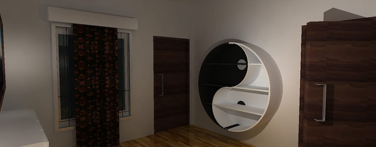 Deb Villa Modern study/office by Gurooji Designs Modern