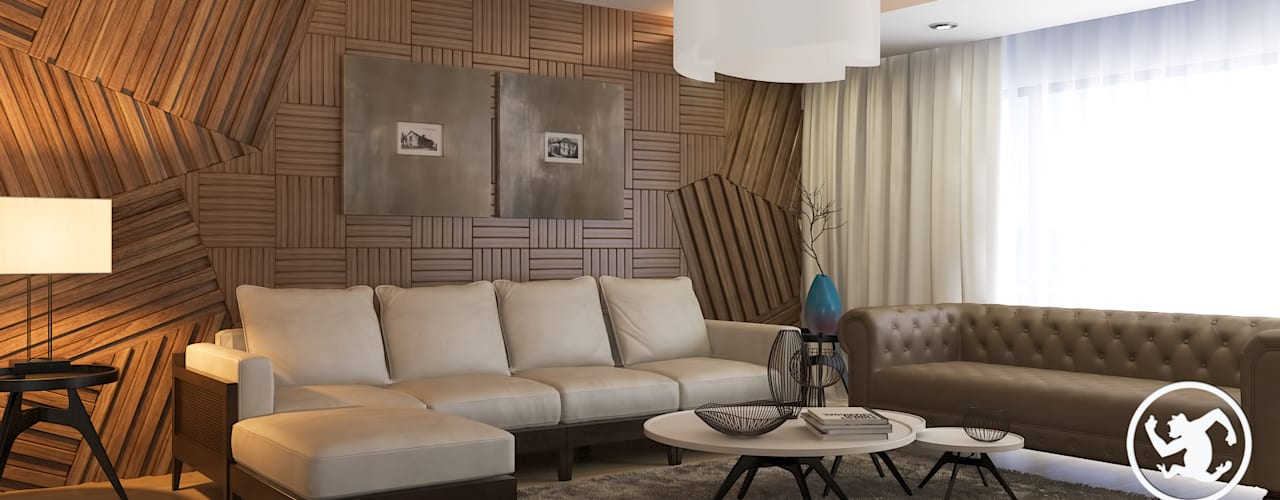 Erden Ekin Design – New Anka Residence:  tarz Oturma Odası,