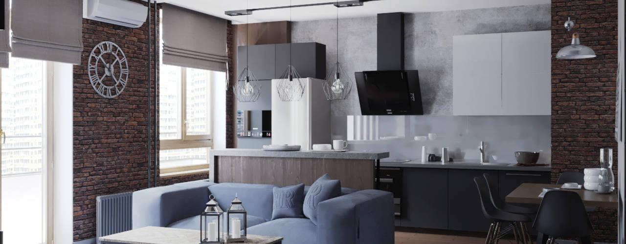 кухня-гостиная : Кухни в . Автор – EEDS design