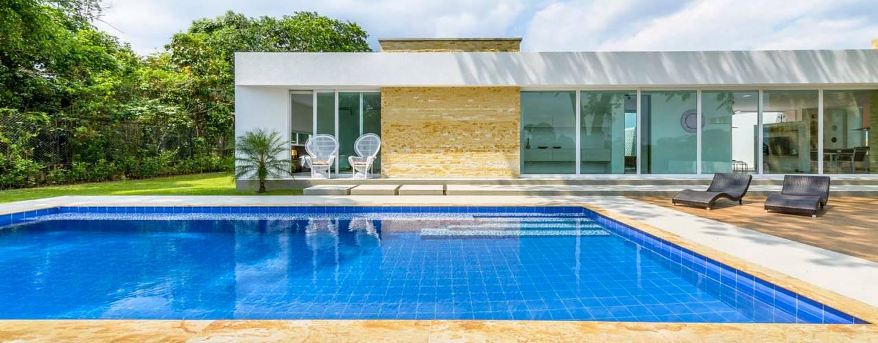 Kolam Renang oleh David Macias Arquitectura & Urbanismo, Modern